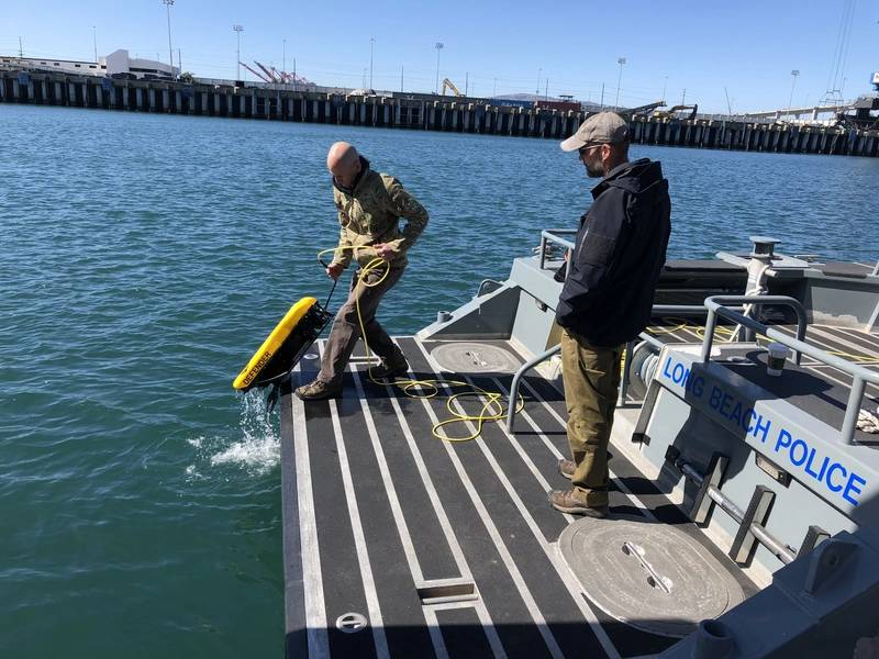 MSS Defender που αναπτύσσεται στο λιμάνι του Long Beach, Καλιφόρνια (Φωτογραφία: Nortek)