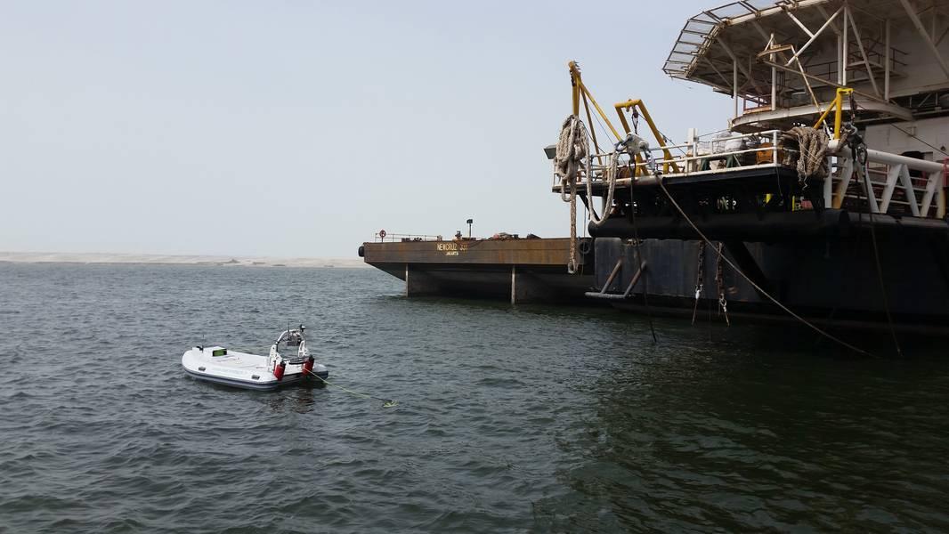 Η Marine Tech έχει προμηθεύσει τα συστήματα RSV-ROV στο IMODCO για επιθεωρήσεις κυλίνδρων CALM. Φωτογραφία από το IMODCO.