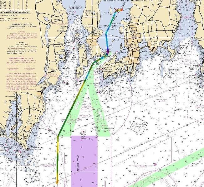 Misión de ingreso largo que muestra el perfil de profundidad completado por I3 de L3 en ANTX (Imagen: L3 OceanServer)