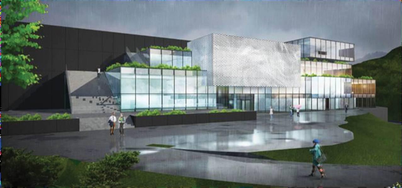 Poderoso P & D: o planejado Centro de P & D da Unitech Offshore System, uma fábrica Giga. Ilustração: cortesia Unitech