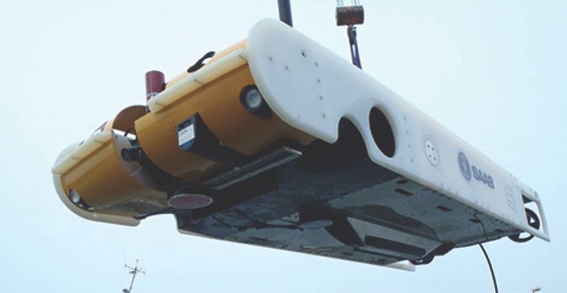 Saab Seaeye的Sabertooth混合型ROV / AUV(照片:萨博)