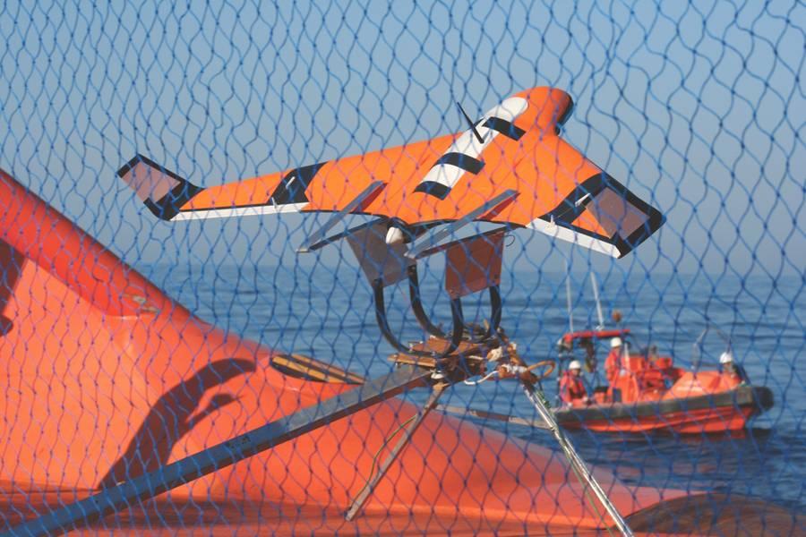 Το X8 UAV έχει ρυθμιστεί να απογειώνεται. (Φωτογραφία ευγένεια: Javier Gilabert)