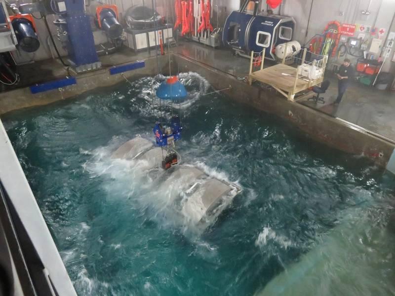 A cabine vira de cabeça para baixo na água. (Foto: Tom Mulligan)