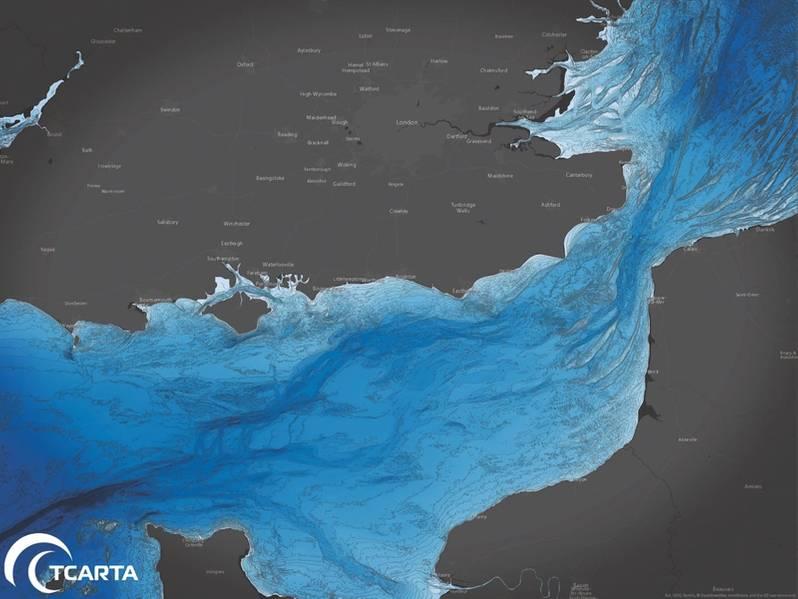 O pacote GIS de 30 milhões da TCarta no norte da Europa, ao longo do Canal da Mancha. (Crédito: Aaron Sager)