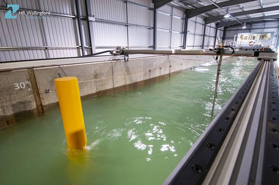 El proyecto PROTEUS facilitará la realización de una serie de experimentos a gran escala durante un período de siete semanas en el canal de flujo FFF en las instalaciones de modelado físico de HR Wallingford en el Reino Unido. (Foto: HR Wallingford)