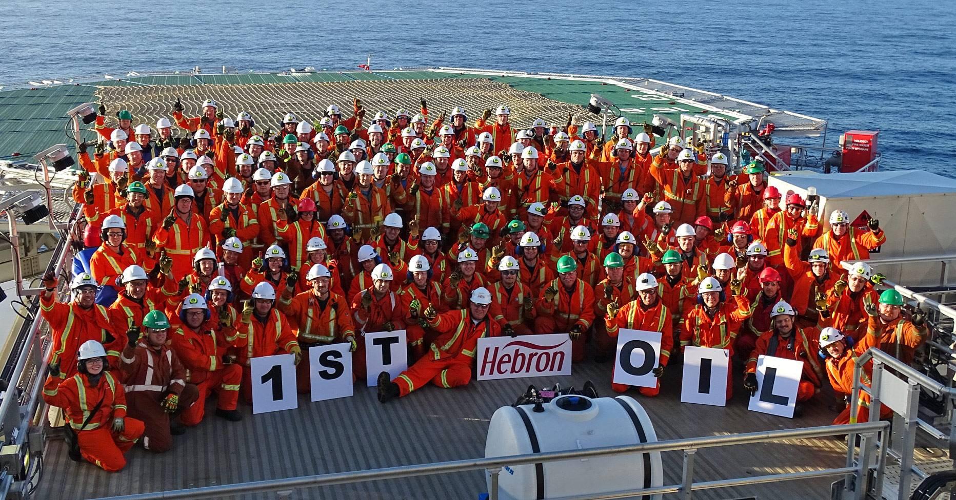 ExxonMobil's Hebron platform pumps first oil off Newfoundland and Labrador