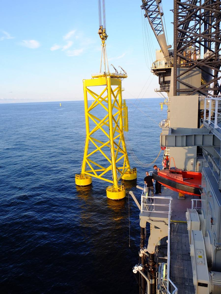 Sensors Installed On N... Underwater Turbine Electricity Production