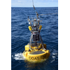 THE PAP Observatory buoy on the ocean surface (Photo: NOC)