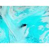 Weddell Sea polynya, initally 3,700 square miles, 2017. False color NASA satellite image shows ice in blue, clouds in white. (Photo: Scripps Institution of Oceanography)