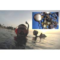 "Anthony Morales dives with his Pulse 8X detector in Puerto Rico recovering lost jewelry and other ""treasures"". (Photo: JW Fishers)"