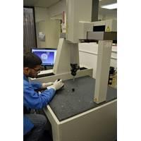 A BIRNS technician inspects an insert with the DCC CMM (Photo: BIRNS)