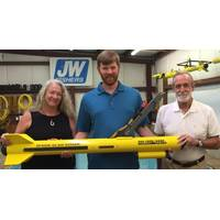 Dr. Breece with Fisher sonar tech Brian Awalt. Along with husband and colleague Dr. Bill Breece (Photo: JW Fishers)