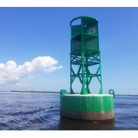 A Coast Guard ATON (Aids to Navigation) buoy in Kings Bay, Ga., that will house one of the new PORTS current meters. (Photo: NOAA)
