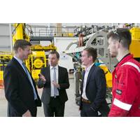 During a recent visit, SoS Greg Clark meets Steven Gray, ROVOP CEO; Callum Lamont, ROVOP's Graduate Trainee; and Douglas Young, ROVOP's Apprentice (Photo: ROVOP)