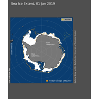 Figure 1: Sea ice extent for January 1, 2019 (Photo: NSIDC)