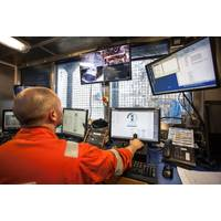 From the control room on board Island Constructor during operation. (Photo: Island Offshore)