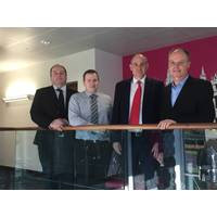From left to right: Graeme Lamont, Business Development Manager, DNV GL; Gareth Jones, Principal Consultant, BMT Cordah Ltd; Alastair Dodds, Engineering Director, Axis Well Technology Ltd.; and Eamonn McGennis, Decommissioning Lead, Costain Upstream Limited (Photo: Integrated DECOM)