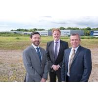 From left to right: Simon Harvey, Proserv's head of operation at Great Yarmouth; David Lamont, CEO; and Iain Smith, region president  for UK and Europe; at the site of the company's new facility in Great Yarmouth. (Photo: Proserv)