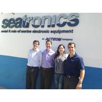 From left: Thiago Montanari of Seatronics, David Velasco and Paloma Cortez of Nortekand Fabio D'Agostino of Seatronics. (Credit: Nortek)