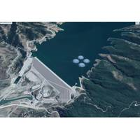 Illustration of floating solar plant at Banja reservoir - Credit: Statkraft