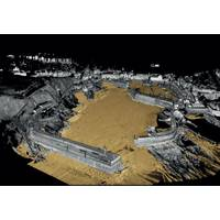 3D image of Mevagissey Harbour which was generated using data collected by the new Ultrabeam Hydrographic vessel (Image: Ultrabeam Hydrographic)