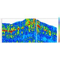 Jason 9.5's Anisotropic Inversion product offers more options to improve anisotropy property estimates calibrated to well control for effective well design and optimum production. This figure shows anisotropy magnitude of Vp/Vs from wide-azimuth seismic data on a section through the Marcellus shale play. (Image: CGG GeoSoftware)