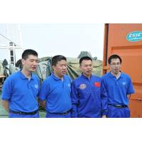 Jiaolong crew-members: Photo courtesy of China SOA
