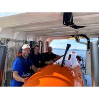 The Kongsberg Maritime team with the HUGIN AUV, a 2020 AUVSI XCELLENCE third-prize winner. Photo: Kongsberg