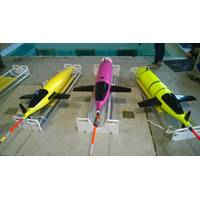 KONGSBERG's new ocean gliders. L-R: Kongsberg Seaglider, Oculus shallow water and Seaglider M6 deepwater system (Photo: Kongsberg)