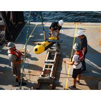 Kraken's KATFISH high speed Synthetic Aperture Sonar towfish will be used to acquire ultra-high definition seabed images and bathymetry during the OceanVision project. (Photo: Kraken Robotics Inc.)