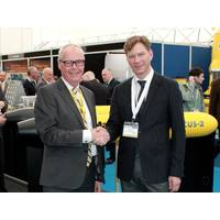 Lars Hansen (left), President of MacArtney Inc. and Fabian Wolk (right), President of Rockland Scientific Inc. (Photo: RSI)
