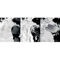 Larsen B Ice Shelf Collapse, 2002. Credit: National Snow and Ice Data Center