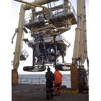 Launching the Fugro Q1400 trenching system