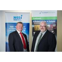 Left to right: Tony Laing, NSRI director of research and market acceleration and Andy McDonald, sector director, energy and low carbon technologies at Scottish Enterprise. (Photo: NSRI)