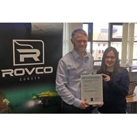 Liam Warren, operations manager at Rovco and Dominique Sewell, quality auditor. Photo Rovco