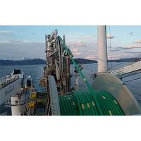 Luva-flowlines heading for the field on board the Seven Oceans (Photo: Statoil)