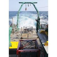 A MacArtney system, including oceanographic winch, custom made multiplexer, cables and connectors, is used to empower the FSU MILET toolsled onboard the R/V Weatherbird II