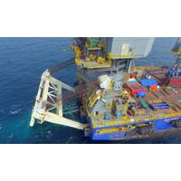 McDermott used its derrick lay vessel, DLV 2000 to perform its first S-lay piggy-back pipelay. (Photo: McDermott)