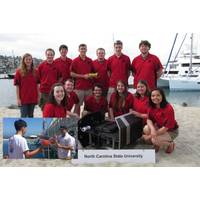 Members of NCSU Robotics Club, Inset - SAS students with AUV (Image: JW Fishers)