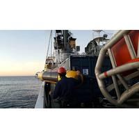 MUSCLE Autonomous Underwater Vehicle Deployment. Photo courtesy of CMRE