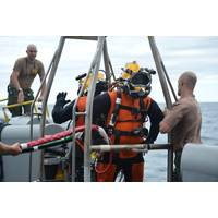 Navy EOD divers prepare: Photo credit US Navy Mil.