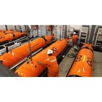 Ocean Infinity's AUVs being prepared to autonomously map the ocean floor, aboard Seabed Constructor (Photo: Ocean Infinity)