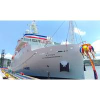 R/V New Ocean Researcher 1 equipped with three full MERMAC LARS solutions. Photo courtesy MacArtney.