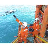 Offshore man with drone (Photo: Cyberhawk Innovations)