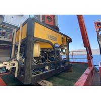Photo – Film-Ocean's Quasar 150HP Workclass ROV in operation off the coast of Greece supporting an electrical interconnection cable installation project