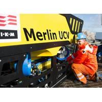 Project Engineer Roar Paulsen with IKM Subsea' s Merlin UCV (Photo: IKM Subsea)
