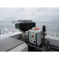 The rapidCAST system on a small survey launch. (Photo: Teledyne Oceanscience)