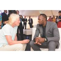 Richard Branson with Usain Bolt (Photo: Caribbean Climate-Smart Accelerator)