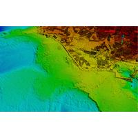 Seamless topo/bathy data from Optech CZMIL Nova's recent survey of Korea's coast (image courtesy KHOA)