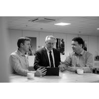L-R, Simon Partridge, Group Chief Strategy Officer, John Ramsden, Group CEO, and Stephen Fasham, Group Chief Operating Officer. (Photo: Sonardyne)